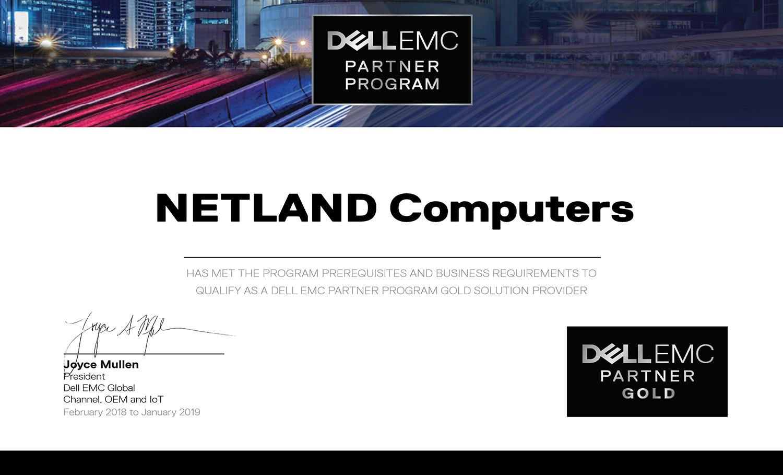 certyfikat Dell 2018