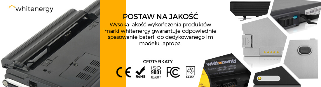 baterie DELL - jakość Whitenergy