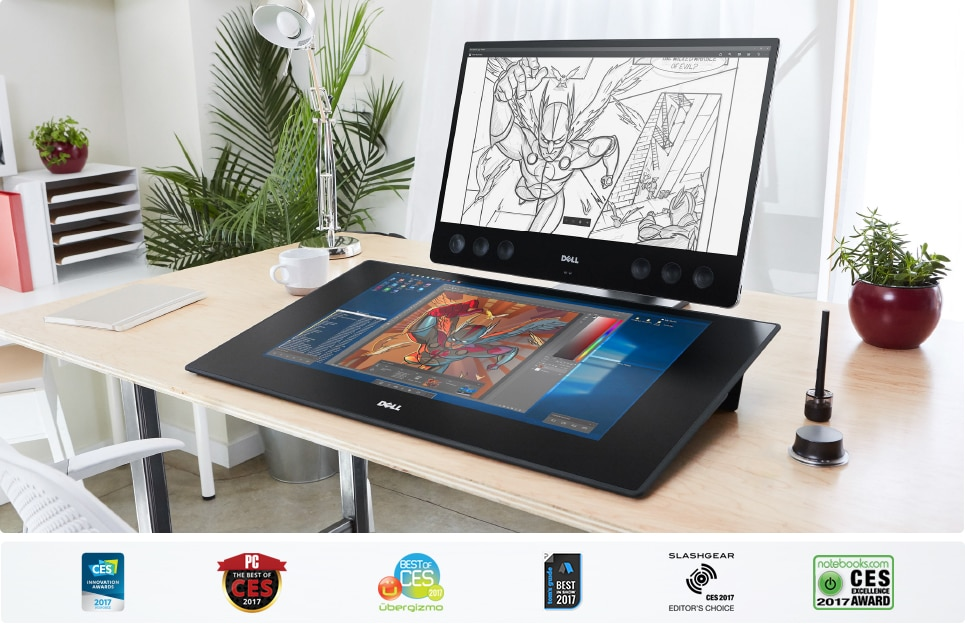 Dell Canvas 27'' QHD 1xmHDMI 1xUSB type-C 2xUSB 3.0 3YNBD