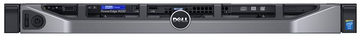 Serwer Dell PowerEdge R230 E3-1220v5 8GB 300GB SAS 15k H330 DVD-RW 3yNBD