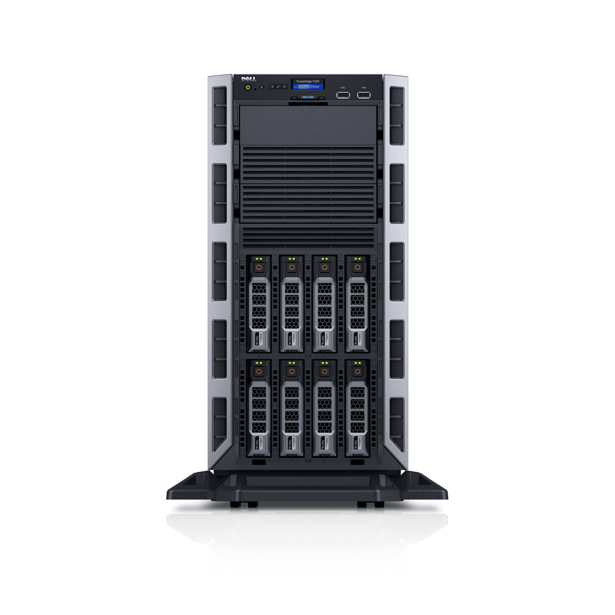Zestaw serwer DELL PowerEdge T330 E3-1220 v6 8GB 300GB SAS 3,5'' H330 iDRAC DVD 3yNBD + Windows Server 2016 Essentials
