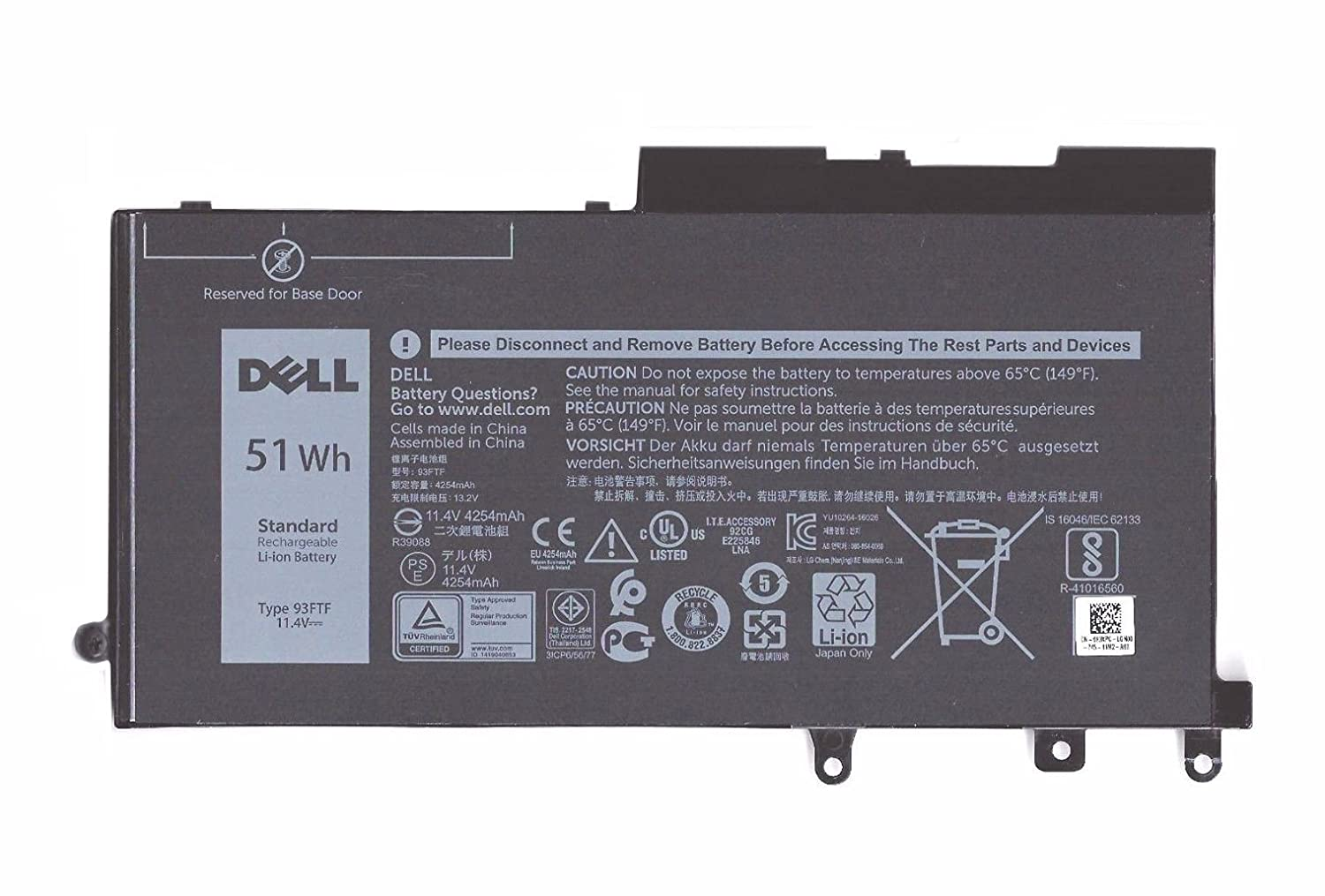 Bateria Dell 3-Cell 51Wh D4CMT