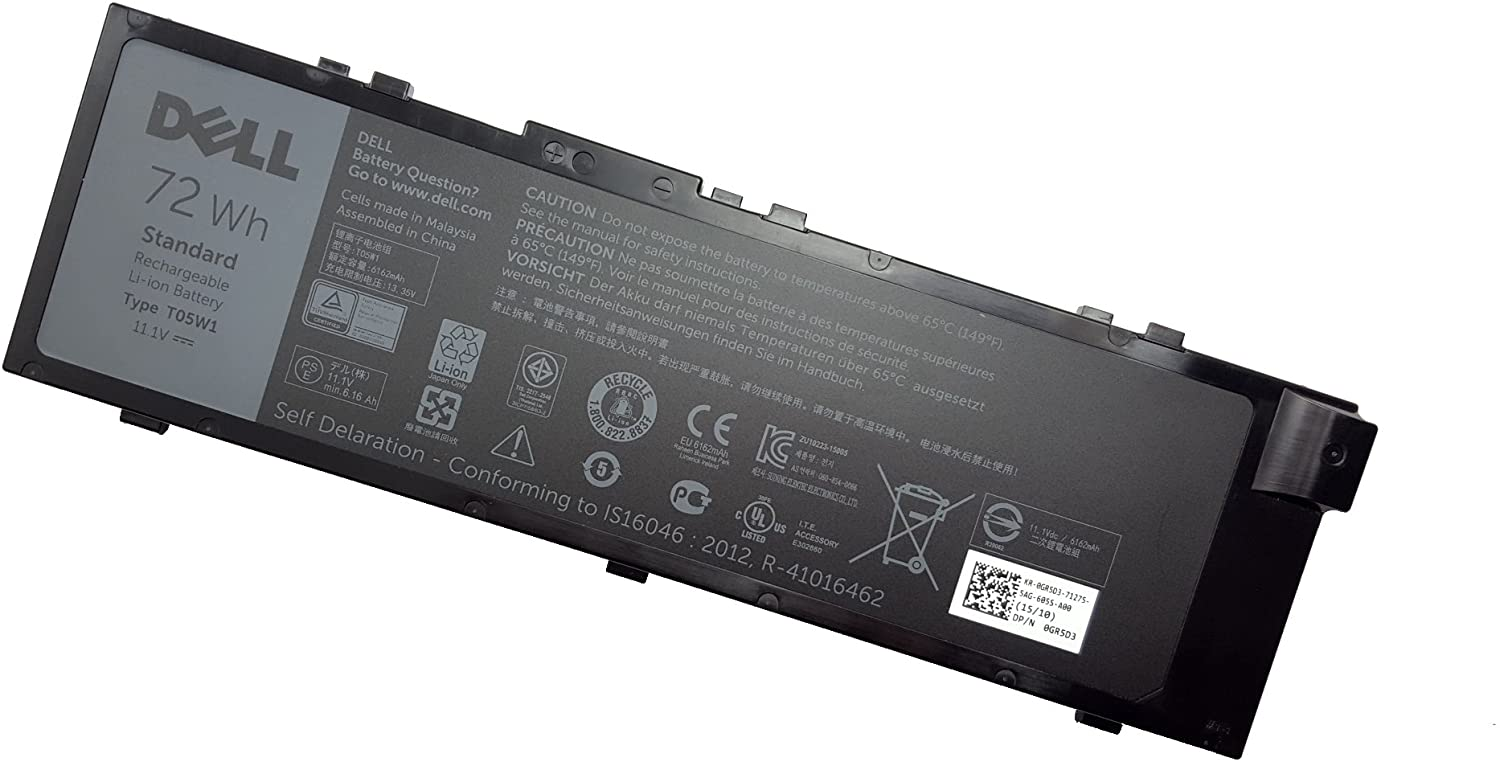 Bateria Dell 6-Cell 72Wh GR5D3