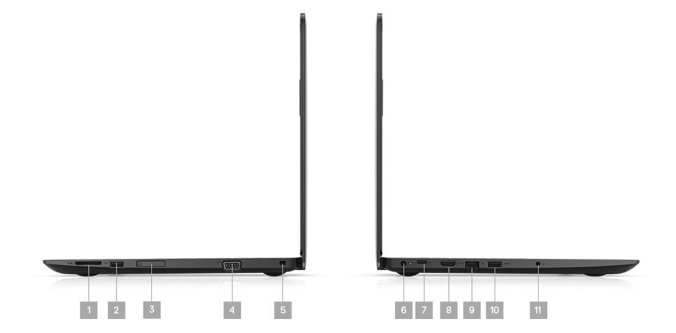 Laptop Dell Latitude 3390 2w1 hybryda - porty rozszerzeń