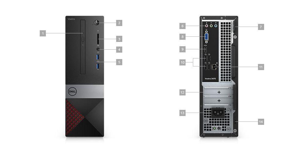 Komputer Dell Vostro 3470 SFF - porty rozszerzeń