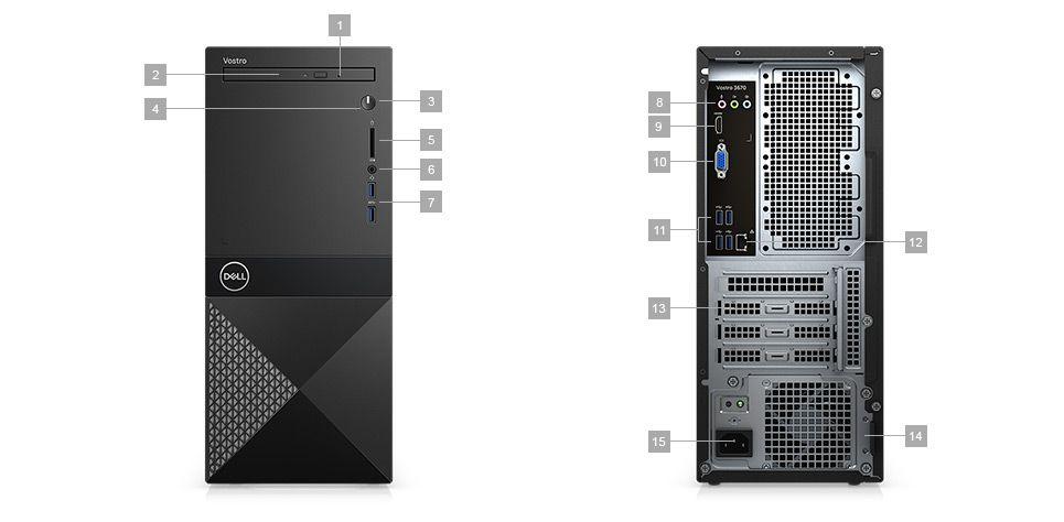 Komputer Dell Vostro 3670 MT - porty rozszerzeń